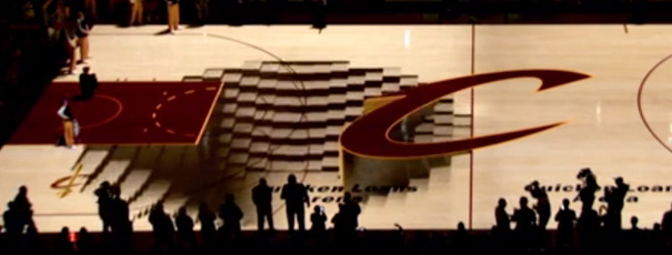 Cleveland-Cavaliers-PreGame-Court-Projection